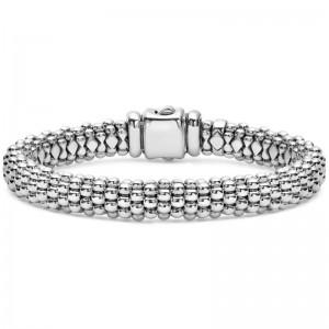 S/S Signature Caviar Oval Rope 9Mm Bracelet Sz M