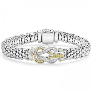 S/S 18K Yg Newport Diamond 9Mm Bracelet With 24 Round Diamonds G-H Si  Newport Knot Caviar Bracel