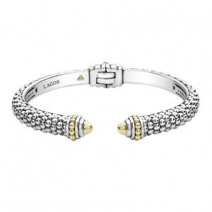 Signature Caviar Cuff Bracelet