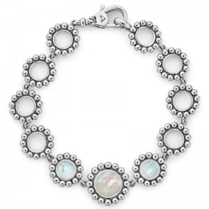 Maya White Mother Of Pearl Link Bracelet