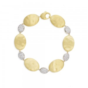 Marco Bicego Siviglia Grande Yellow Gold and Diamond Bracelet