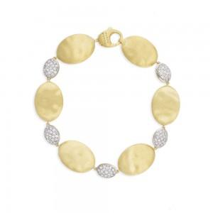 Marco Bicego Siviglia Grande Yellow Gold and Diamond Bracelet