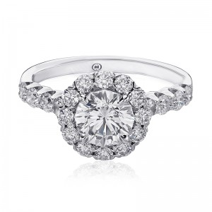 CHRISTOPHER DESIGNS  Crisscut® Round Diamond Engagment Ring