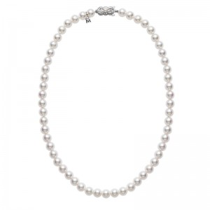 Mikimoto White Gold Matinee Necklace With 91 Akoya Cultured Pearls A 6.5X6Mm 24
