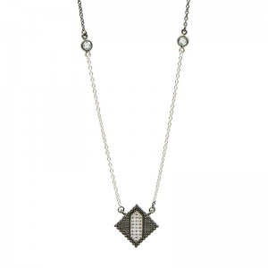Industrial Finish Diamond Shape Pendant