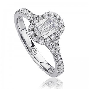 CHRISTOPHER DESIGNS  Crisscut®Cushion Diamond Engagment Ring