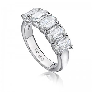 L'Amour Collection by CHRISTOPHER DESIGNS 5 Diamond Band
