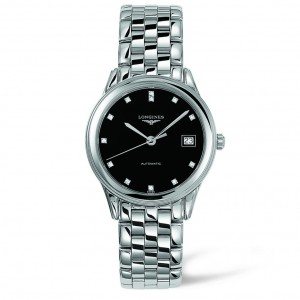 Longines Flagship Automatic Black Dial Stainless Steel Mens Watch