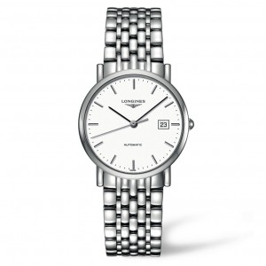 Longines Elegant Automatic White Dial Stainless Steel Automatic Ladies Watch