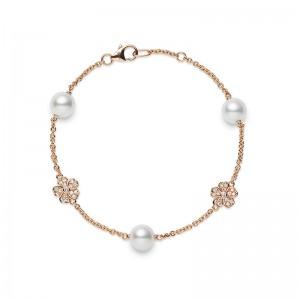Mikimoto Cherry Blossom Akoya Pearl and  Diamond Bracelet