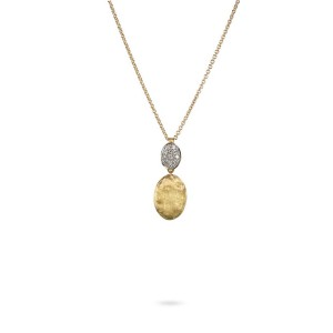 Marco Bicego Siviglia Gold & Diamond Pave Pendant