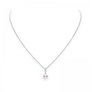 Mikimoto Morning Dew Akoya Pearl and Diamond Pendant