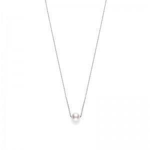 Mikimoto White Gold Pendant With 1 A+ 8Mm Akoya Round Pearl 18