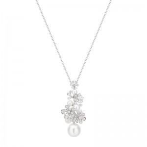 Mikimoto White Gold Pearl & Diamond Pendant Wssp 11Mm Akoya 4.5-6Mm (7); Diamond .55Ct(37) 23.5