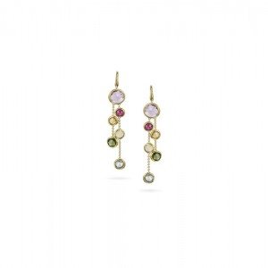 Marco Bicego Jaipur Color Mixed Gemstones Two Strand Earrings