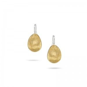 Marco Bicego Lunaria Gold & Diamond Pave Medium Drop Earrings