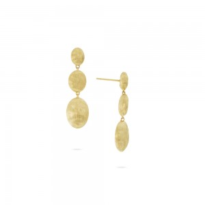 Marco Bicego Siviglia Grande Yellow Gold Triple Drop Earring