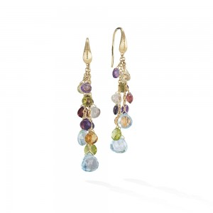 Marco Bicego Paradise Multi Gemstone Drop Earrings