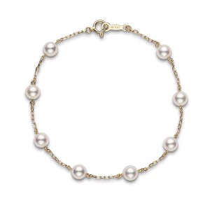Mikimoto 5 Mm Akoya Cultured Pearl Station Bracelet