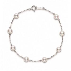 Mikimoto 5 Mm Akoya Cultured Pearl Station Bracelet