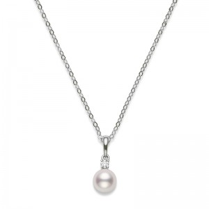 Mikimoto Everyday Essential Akoya and Diamond Pendant