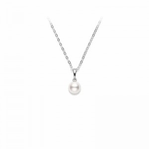 Mikimoto 18K White Gold Akoya Cultured Pearl Necklaces