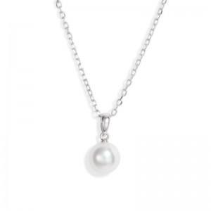 Mikimoto White Gold Round Akoya Cultured Pearl Pendant A+ 7-7.5Mm