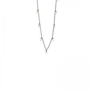 Bezel Droplet Strand Necklace