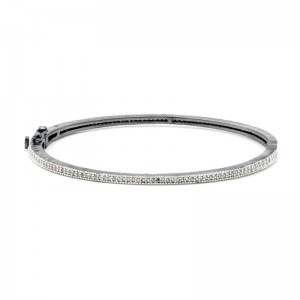 Signature ThinPave Hinge Bangle