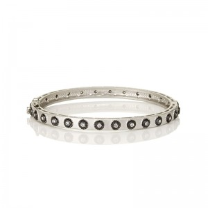 Signature Studded Eternity Hinge Bangle