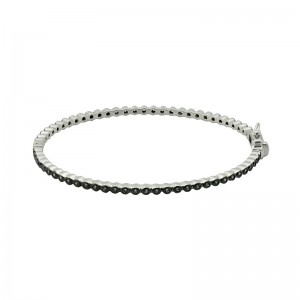 Signature BezelPave Hinge Bangle
