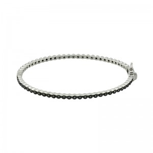 Signature Oval Eternity Hinged Bangle