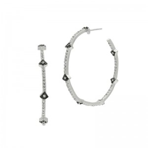 Signature Arrow Sttion Hoop Earrings