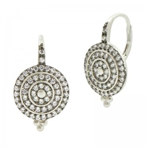 SignaturePave Bullseye Lever Back Earrings
