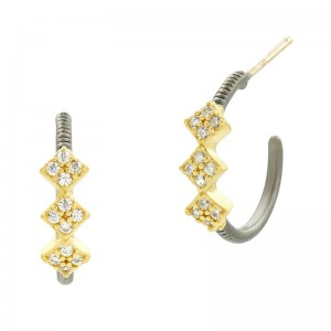 Rose D'or Hoop Huggie Earrings
