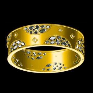 Rose D'or Wide Hinge Bangle
