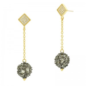 Rose D'or Rosecut Ball Drop Earrings