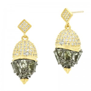 Rose D'or Small Pendant Drop Earrings