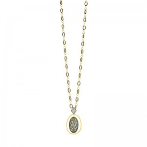 Rose D'or Orbit Pendant Necklace
