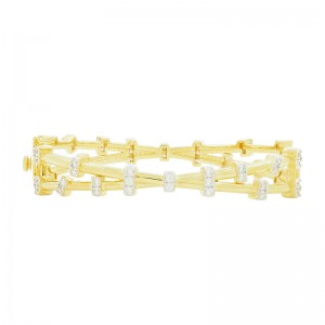 Radiance Illusion Stack Hinge Bracelet