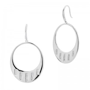 Radiance Drop Hoop Earing