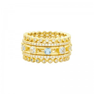 Yellow Sterling Silver And 14 Karat Ring