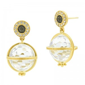 Textured Ornaments Orbit Drop Earrings