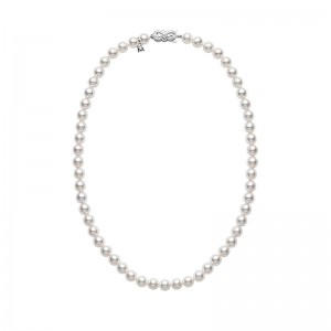 Mikimoto White Gold Princess With 67 Round Akoya Cultured Pearls A 6.5X6Mm 18
