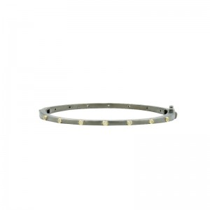 Thin Bezel Sparkly Gem Bangle