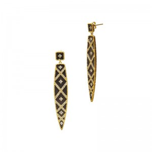 Signature Geo Stripe Drop Earrings
