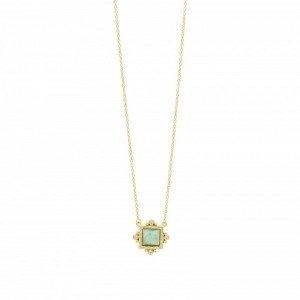 Amazonian Allure Square Pendant Necklace
