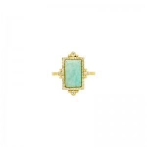 Amazonian Allure Single Stone Cocktail Ring