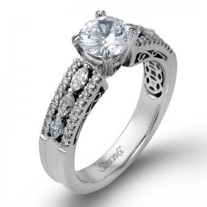 White 18 Karat  Engagement Mounting