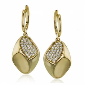18k Yellow Gold Simon G Earrings